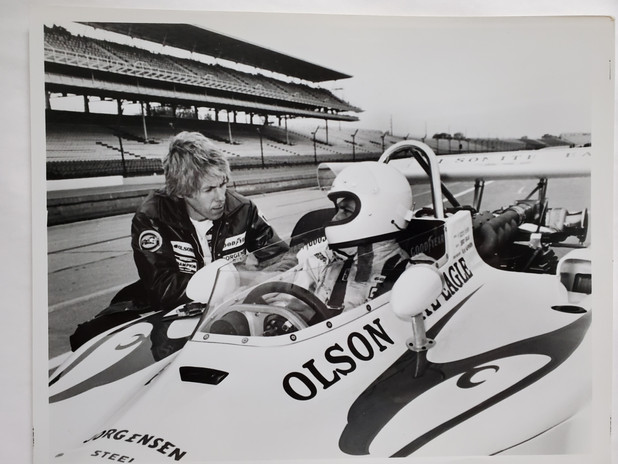 Jerry Grant with Chief Mechanic Rouem (H
