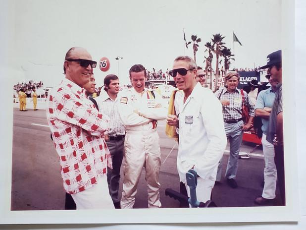 Ozzie Olson, Bobby Unser & Paul Newman