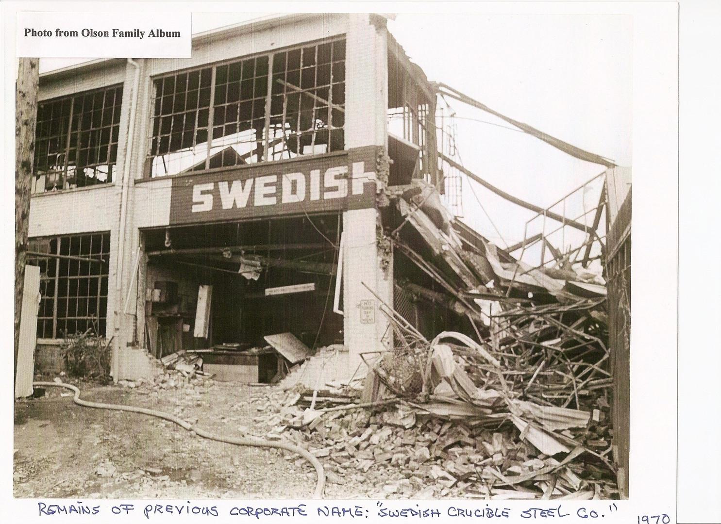 8  Swedish Crucible Steel Sign Remnants.