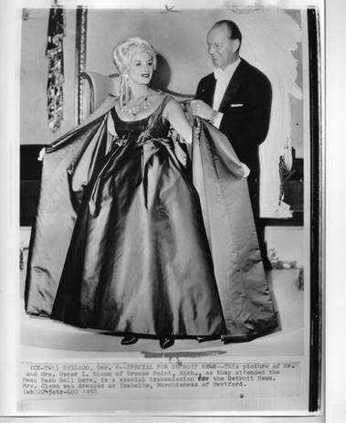Ozzie & Jean at Beau Nash Ball Dec 1958.