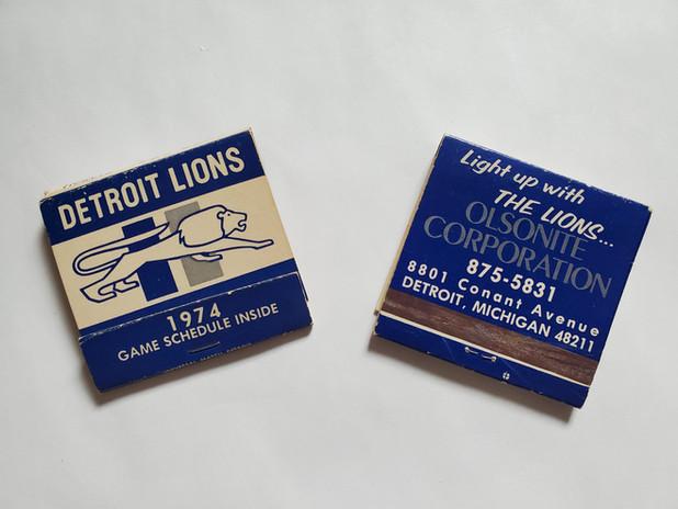Olsonite - Detroit Lions Matchbooks.jpg