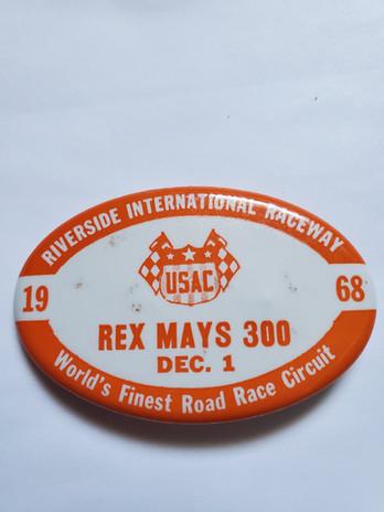 1968 Rex Mays 300 Pit Badge.jpg