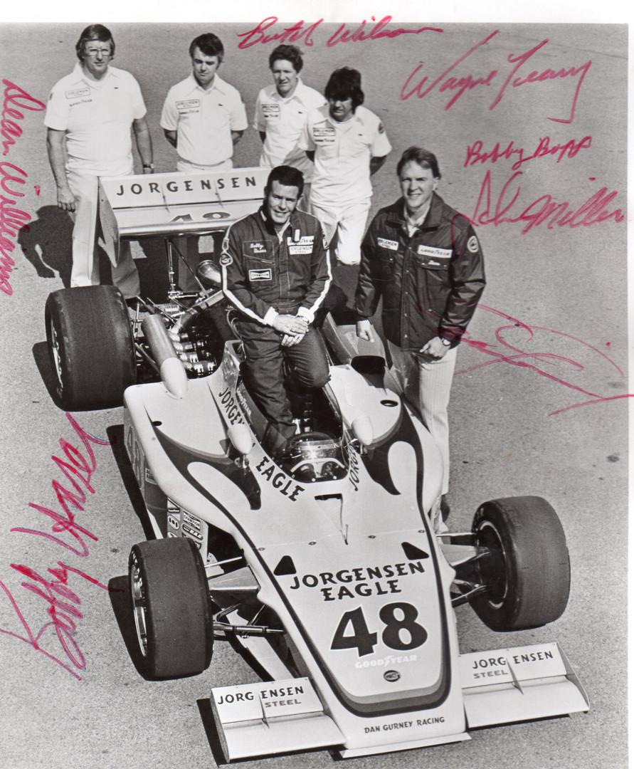 Unser, Gurney and Crew in 1975 Jorgensen
