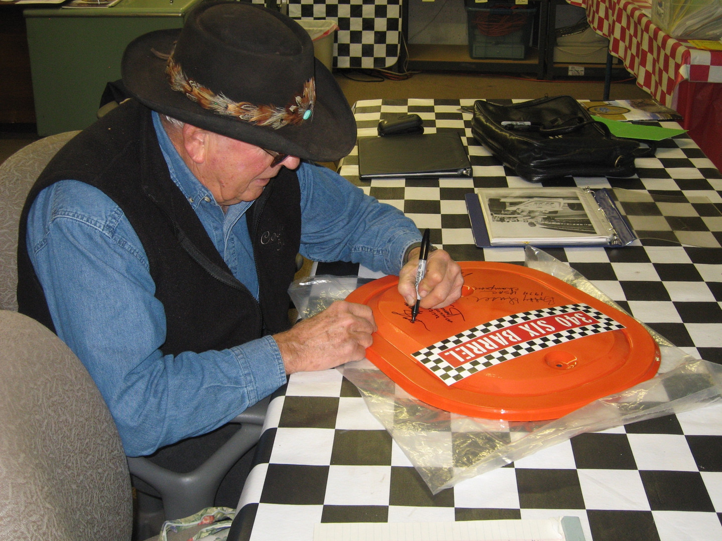 9  Wally Dallenbach Signing Olson Air Cl