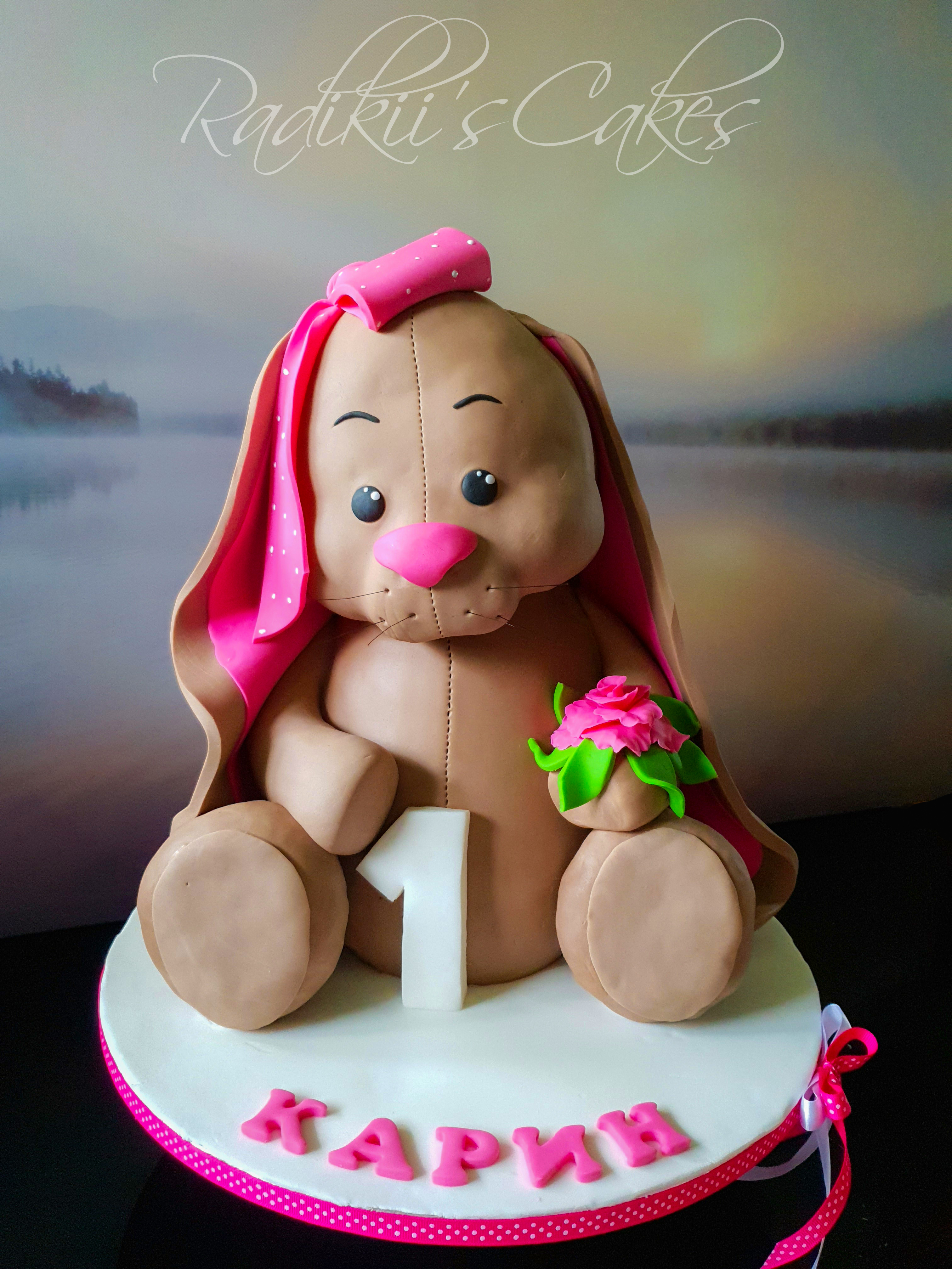 3D Bunny cake