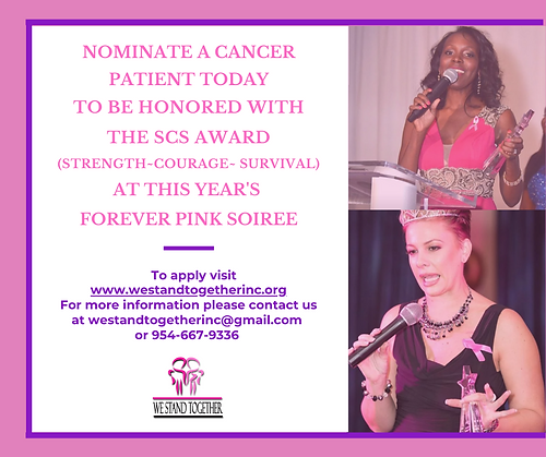 NOMINATE A CANCER PATIENT TODAY TO RECEI