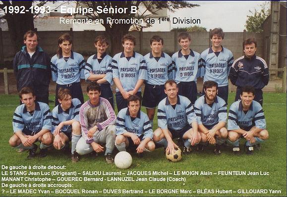 1992-1993 - Equipe Seniors B Remonte en