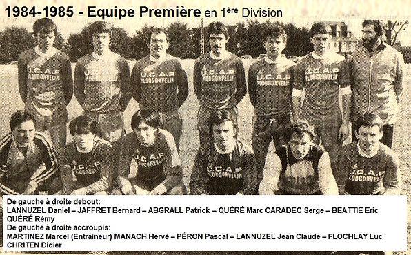 1984-1985 - Equipe Première en 1ere Div.