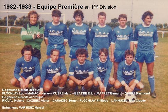 1982-1983 - Equipe Première en 1ere Div.