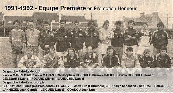 1991-1992 - Equipe Première en 1ere Div.