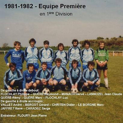 1981-1982 - Equipe Première en 1ere Div.