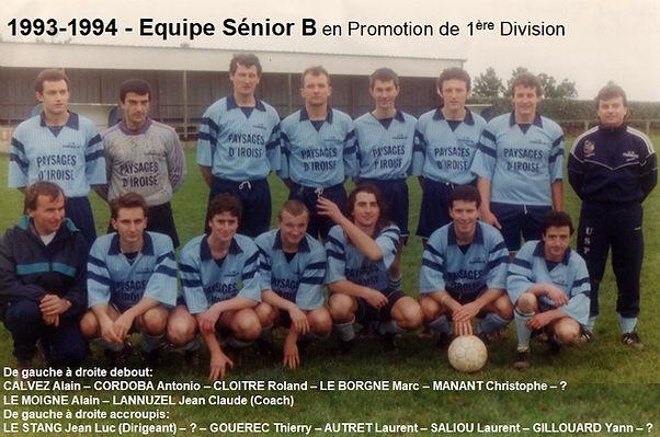 1993-1994 - Equipe Seniors B en Promotio