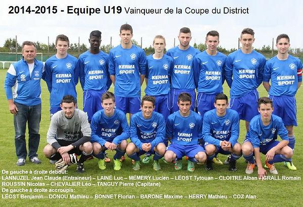 2014-2015 - U19 Vainqueur Coupe du Distr