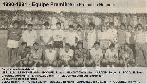1990-1991 - Equipe Première en 1ere Div.