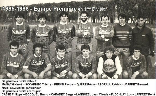 1985-1986 - Equipe Première en 1ere Div.