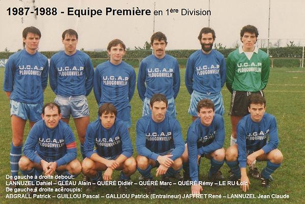 1987-1988 - Equipe Première en 1ere Div.