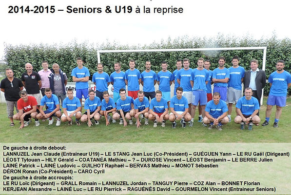 2014-2015 - Seniors & U19 à la reprise.j
