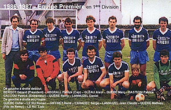 1986 - 1987 US Plougonvelin Equipe Premi