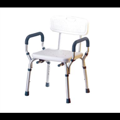 כסא רחצה טלסקופי  עם ידיות