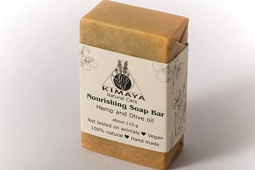 סבון הזנה שמן זית ושמן המפ