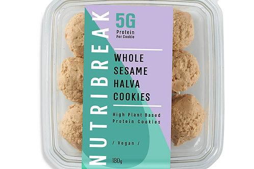 עוגיות חלבון- חלבה שומשום מלא