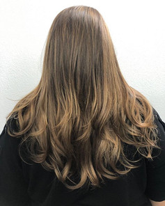 Fresh color, long layers and blow out 💈