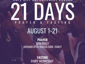 21 Days of Fasting & Praying | August 1-21, 2021