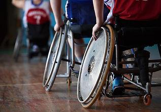 スポーツホールの障害者