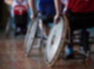Atleti disabili in palazzetto dello spor