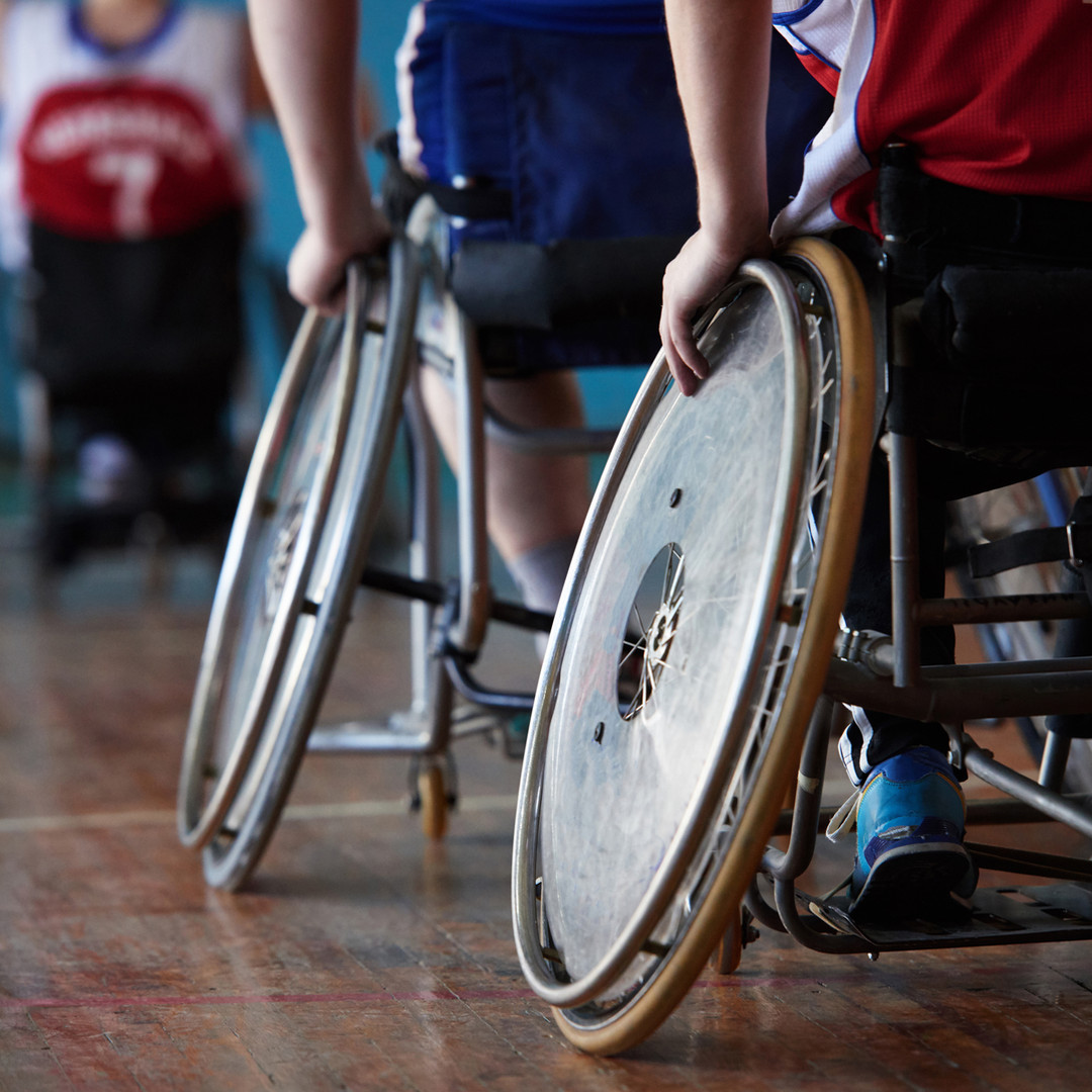 Disabled Athletes in Sports Hall