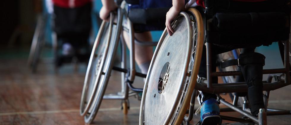 Atletas discapacitados en Sports Hall