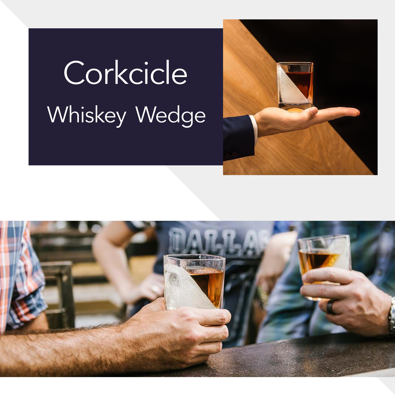 Sam Flax Corkcicle Whiskey Wedge