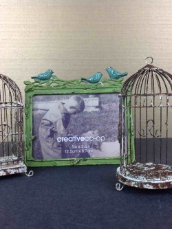 Bird Cage Photograph Holder