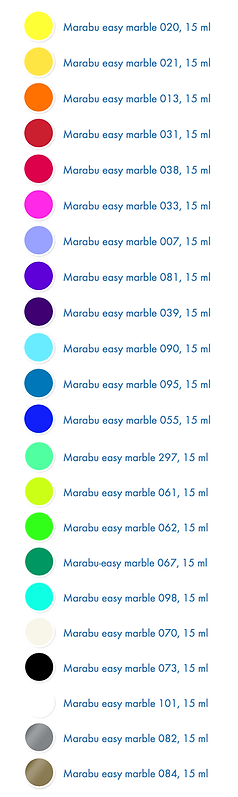 Sam Flax Orlando Marabu Marbling 22 Paint Colors