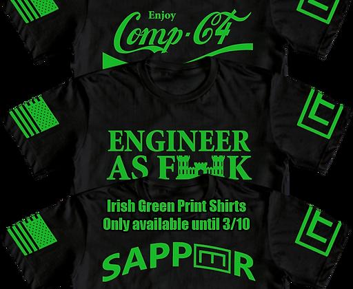 Irish Green Engineer Shirts/Hoodies