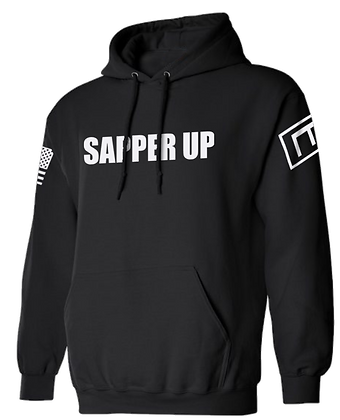 SAPPER UP (BLACK HOODIE)