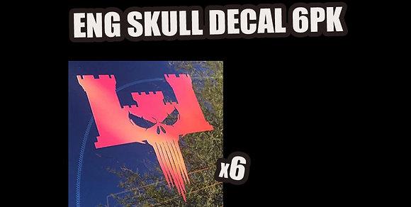 ENG SKULL DECAL PACK (6PK)