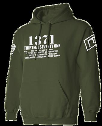 1371 (OLIVE DRAB HOODIES)