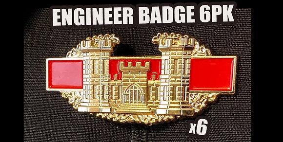 ENG BADGE PIN (6PK)