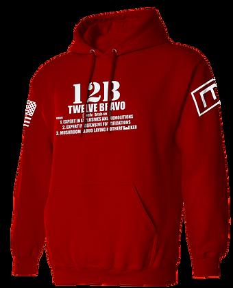 TWELVE BRAVO (RED HOODIE)