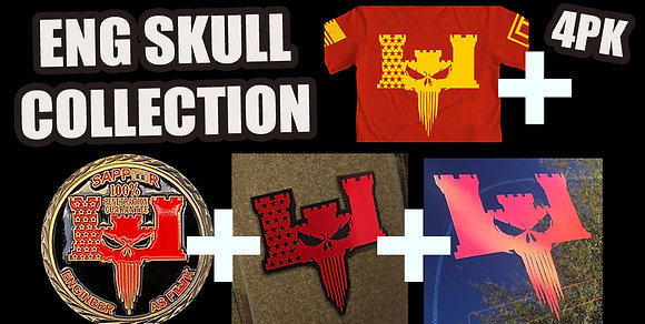 ENG SKULL COLLECTION (4PK)