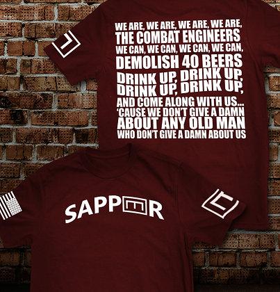SAPPER E TAB w/ENG SONG - 2XL & 3XL