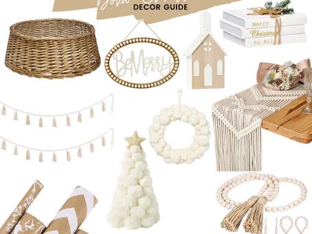 Christmas Decor Guide: Boho Christmas