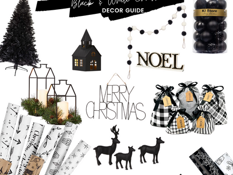 Christmas Decor Guide: Black and White Christmas