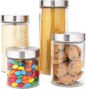 Stainless Steel Top Canister Set