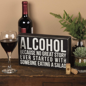 Alcohol Kitchen Sign