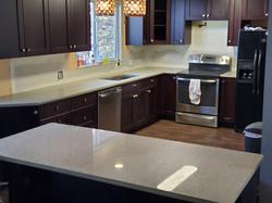 White kitchen with speckle 2