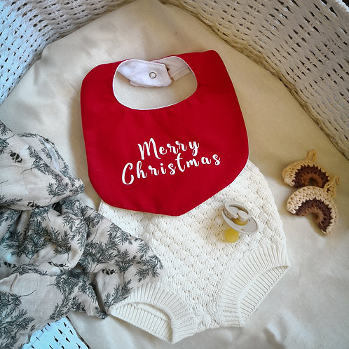Plain Merry Christmas/My First Christmas bib