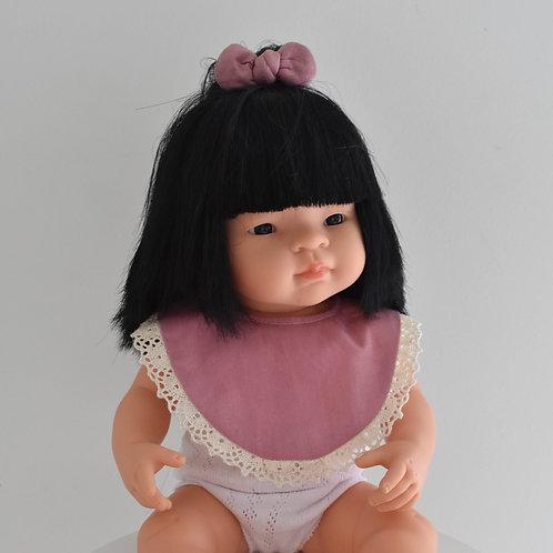 Dusty Pink Dolls Bib