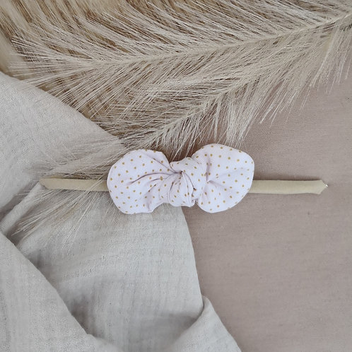Gold & Pink Spotty Bow